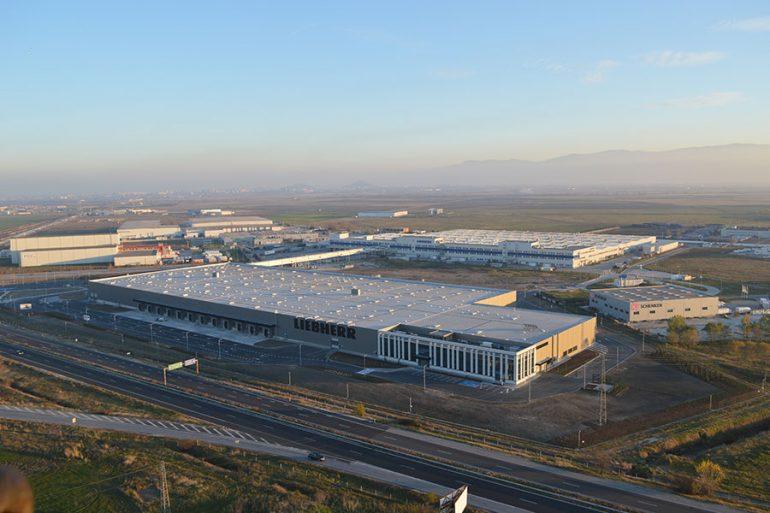 "Liebherr factory in Commercial and Industrial Zone ""Maritza"", Trakia Economic Zone, Plovdiv, Bulgaria"